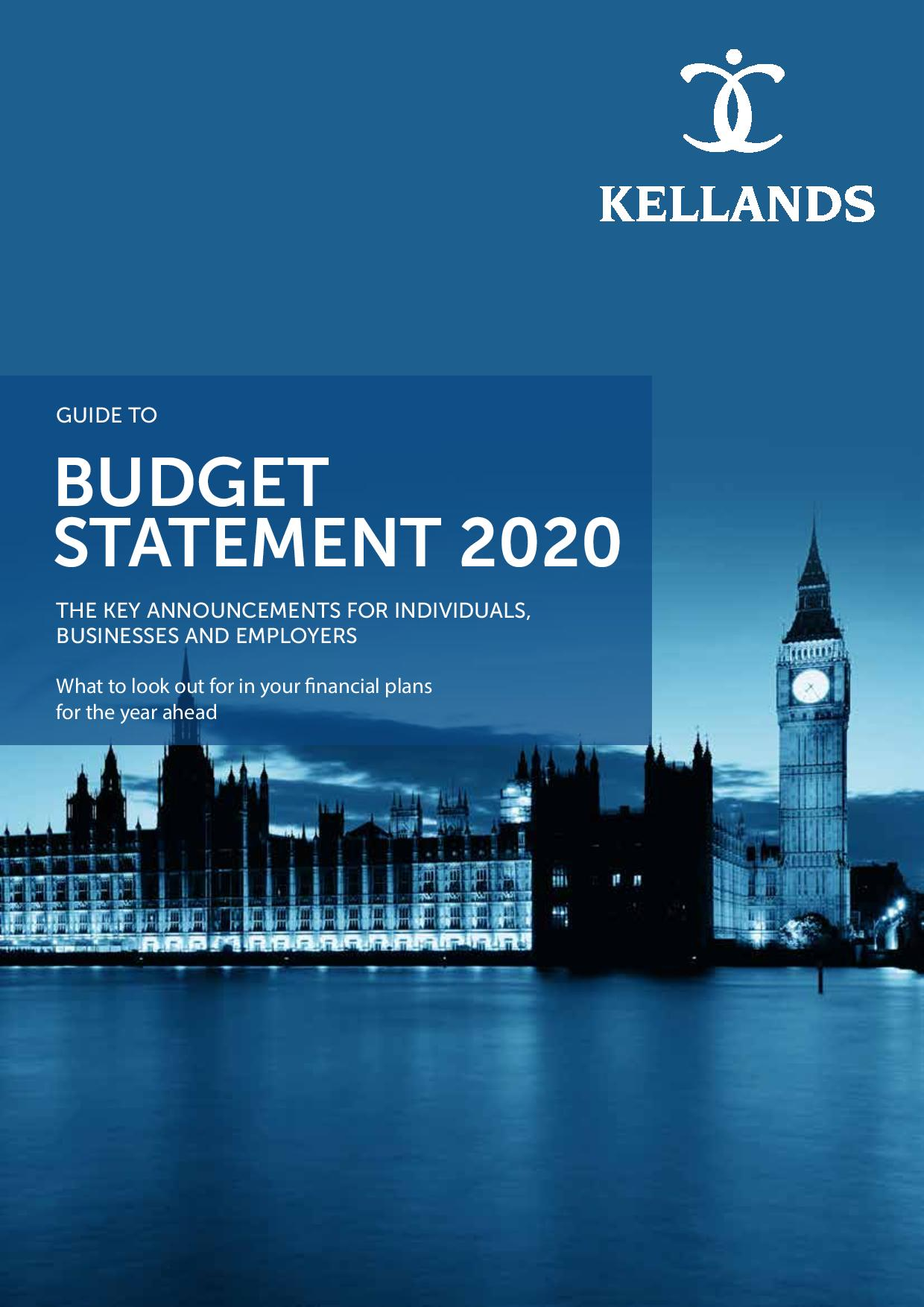 Download Our Guide To Budget Statement 2020